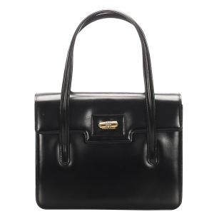 Gucci Black Patent Leather top Handle Bag