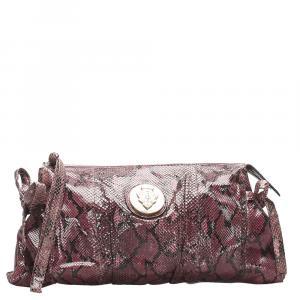 Gucci Hysteria Python Leather Clutch Bag