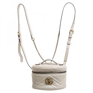 حقيبة ظهر غوتشي حافظة فنيتي جي جي مارمونت جلد كريمية