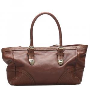 حقيبة يد غوتشي جلد بني