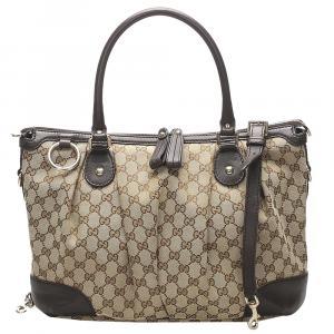 Gucci Brown GG Canvas Sukey Bag