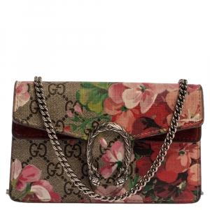 Gucci Multicolor GG Supreme Blooms Canvas Super Mini Dionysus Shoulder Bag