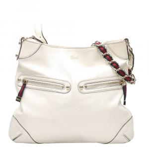 Gucci White Leather Capri bag