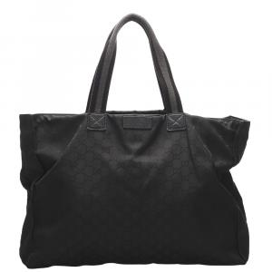 Gucci Black Nylon GG Canvas Bag
