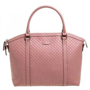 حقيبة ساتشل غوتشي دوم جلد مايكرغوتشيسيما وردية