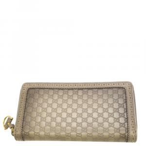 Gucci Beige Microguccissima  Leather  Wallets