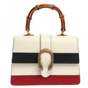 حقيبة غوتشي ديونسيس جلد ثلاثي اللون متوسطة بيد علوية بامبو
