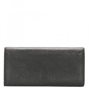 Gucci Black Leather   Wallets