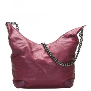 Gucci Pink Leather Galaxy Chain Shoulder Bag