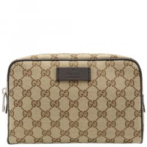 Gucci Beige GG Canvas Waist Belt Bag