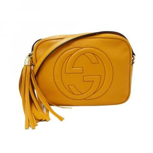 Gucci Orange Leather  Soho Disco Shoulder Bags