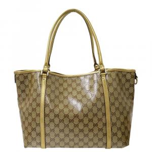 Gucci  GG Crystal Coated Canvas Joy Tote Bag