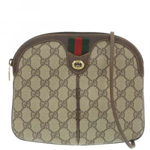 Gucci  GG Canvas, Leather   Shoulder Bags