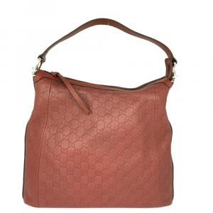 Gucci Brown Leather   Hobo Bag