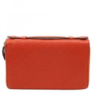 حقيبة سفر غوتشى جلد ديامنتى برتقالية