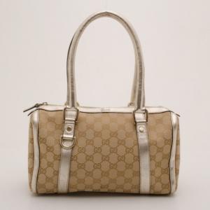 Gucci GG Monogram Metallic Small Boston Bag