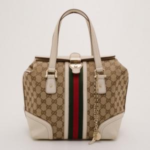 Gucci Monogram Canvas Treasure Boston Bag