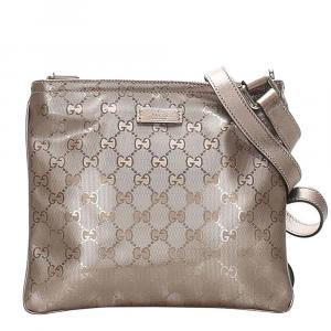 Gucci Brown GG Imprime PVC Crossbody Bag