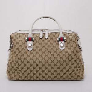 Gucci Monogram Match Ball Boston Bag