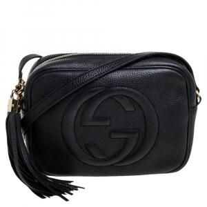 Gucci Black Leather Soho Disco Shoulder Bag