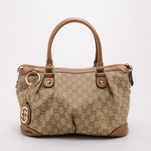 Gucci Metallic Monogram Sukey Top Handle Bag