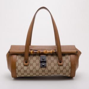 Gucci Monogram Bullet Satchel Handbag