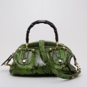 Gucci Pop Python Bamboo Handle Bag