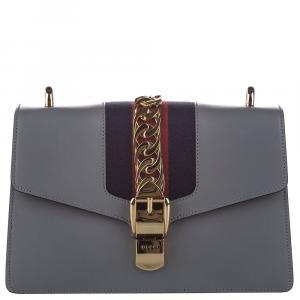 Gucci Grey Sylvie Leather Shoulder Bag