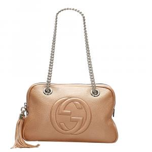 Gucci Gold Soho Chain Leather Shoulder Bag