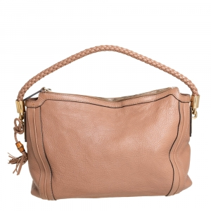 Gucci Beige Leather Medium Bella Hobo