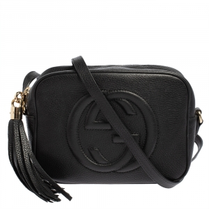Gucci Black Leather Small Soho Disco Shoulder Bag