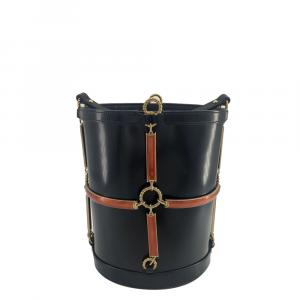 Gucci Black Leather Horsebit Shoulder Bag