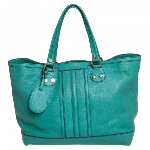 Gucci Green Leather Sunset Tote