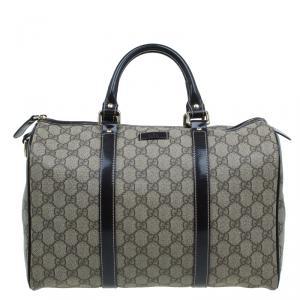 Gucci Beige Guccissima Coated Canvas Medium Joy Boston Bag