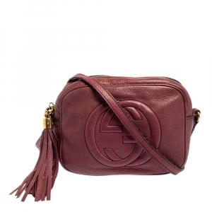 حقيبة كروس غوتشي سوهو ديسكو جلد وردية صغيرة