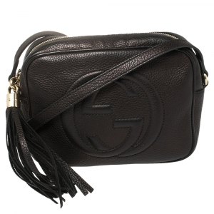 حقيبة كروس غوتشي سوهو ديسكو جلد أسود