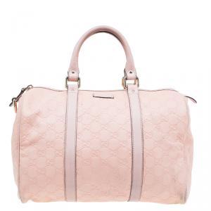 Gucci Pink Guccissima Leather Medium Joy Boston Bag