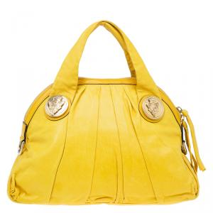 Gucci Yellow Leather Hysteria Top Handle Bag