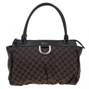 Gucci Brown/Ebony GG Canvas D-Ring Tote