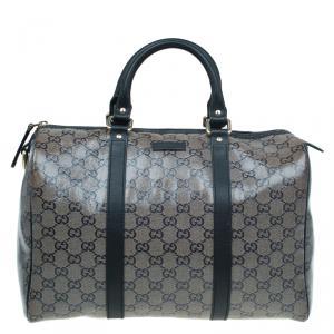 Gucci Black GG Crystal Coated Canvas Medium Joy Boston Bag