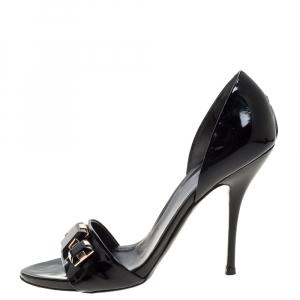 Gucci Black Patent Leather Jewel Embellished D