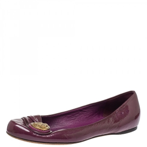 Gucci Purple Patent Leather Ballet Flats Size 35.5 - used