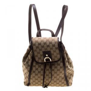 Gucci Beige/Ebony GG Canvas Abbey Backpack