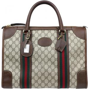 Gucci Beige/Ebony GG Coated Canvas and Leather Briefcase
