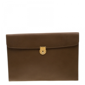 Gucci Brown Leather Vintage Document Case