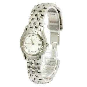 Gucci Ivory Stainless Steel 5500 L Women's Wristwatch 27MM