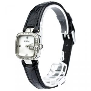 Gucci Mother of Pearl Stainless Steel Diamond G-Gucci Women's Wristwatch 24MM