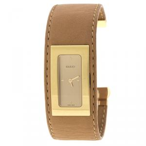 Gucci Gold Plated Stainless Steel 7800S Women's Wristwatch 18 mm