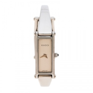 Gucci Silver White Stainless Steel 1500L Women's Wristwatch 12MM