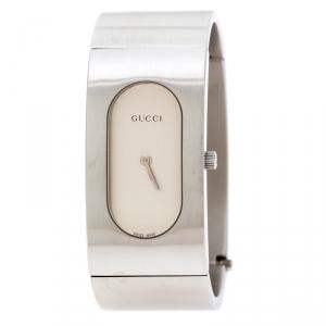 Gucci Silver Stainless Steel Vintage 2400L Women's Wristwatch 22 mm